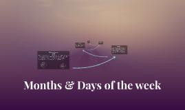 Months & Dates