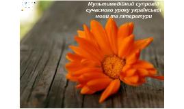Мультимедійний супровід сучасного уроку української мови та