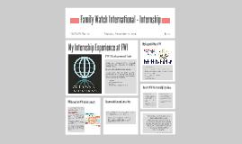 Family Watch International - Internship