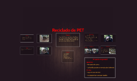 Reciclado de PET 2da Parte