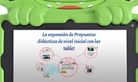 Copy of La expansion de Propuestas didacticas de nivel inicial con t