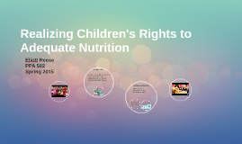 Realizing Children's Rights to Adequate Nutrition
