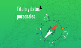 Título y datos personales