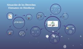 Situación de los Derechos Humanos en Honduras