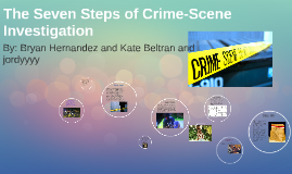 The Seven Steps of Crime-Scene Investigation