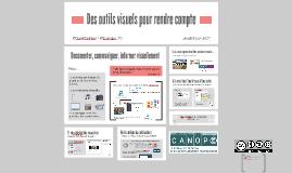Infographies et autres outils pour rendre compte