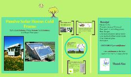 Passive Solar Home Coldframe