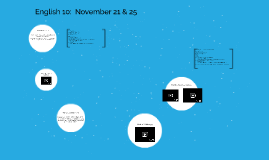 English 10:  Monday, November 19 & 21