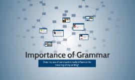Importance of Grammar