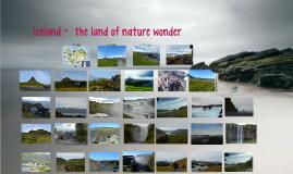 Iceland-  the land of nature wonder