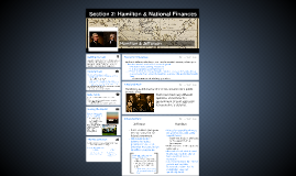 Section 2: Hamilton & National Finances