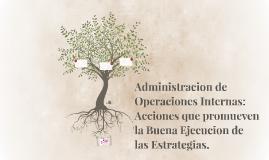 Administracion de Operaciones Internas: Acciones que promuev