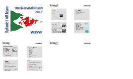 Voorjaarstrainingen 2017 WSVW