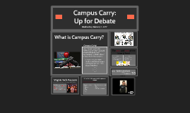 Campus Carry: Up for Debate