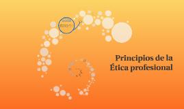 Principios de la  ética profesional