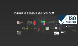 Manual de Calidad Extintores SCM