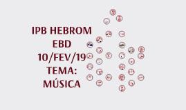 Música EBD IPB Hebrom