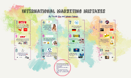 International Marketing Mistakes