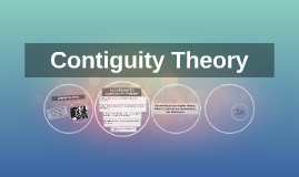 Contiguity Theory