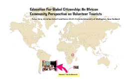African Community Perspectives on Volunteer Tourists by Ezra, Schott and Smith
