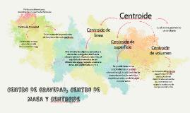 CENTRO DE GRAVEDAD, CENTRO DE MASA Y CENTROIDE