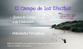 Los Efectos del Campo y las Actividades Perceptivas