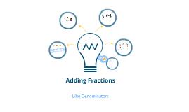Adding Fractions Intro