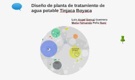 Diseño de planta de tratamiento de agua potable Tinjaca Boya