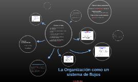 La Organización como un sistema de flujos