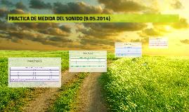 PRACTICA DE MEDIDA DEL SONIDO (9.05.2014)