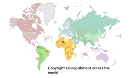Copyright relinquishment across the world