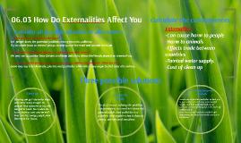 How Do Externalities Affect You