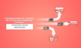 CONSIDERACIONES DEL CONTROL DE CALIDAD EN UN DESPACHO CONTAB