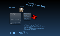 Truman's Atomic Bomb Decision