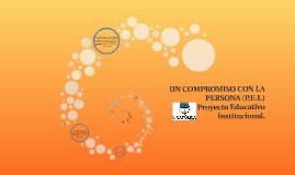 UN COMPROMISO CON LA PERSONA (P.E.I.)
