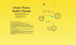 Copy of Glasser's Choice Theory / Reality Therapy