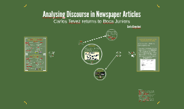 Analysing Discourse in Newspaper Articles