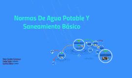 Normas De Agua Potable Y Saneamiento Básico