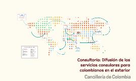 Consultoría: Difusión de los servicios consulares