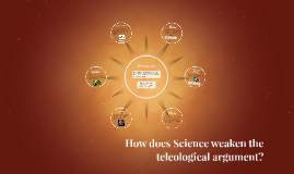 How does Science weaken the telelogical argument?