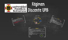 Régimen Discente UPB