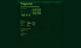 MAA2/1 (LOPS2016) Polynomi