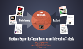 Blackboard Support for Special Education Students
