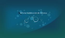 Informe Subdirección de sistemas