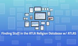 Finding Stuff in the ATLA Religion Database w/ ATLAS