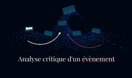 Analyse critique d'un évènement