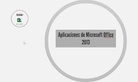 Aplicaciones de Microsoft Office 2013