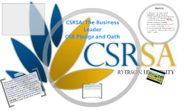 CSRSA: The Business Leader CSR Pledge and Oath