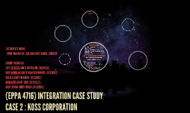 koss corporation case study Who is to blame for the fraud allegations rocking koss corp (koss) well, obviously the people who allegedly misappropriated millions from the stereo-headphone maker's bank accounts or helped them.