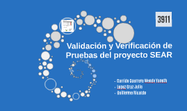 Validación y Verificación de Pruebas del proyecto SEAR